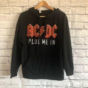 3/$30🦋 AC/DC Plug me in Black Hoodie